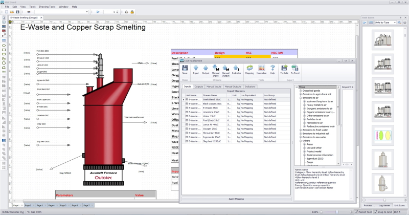 Hsc chemistry software for process simulation reactions equations hsc chemistry software for process simulation reactions equations heat and material balances heat loss calculator equilibrium calculations ccuart Images